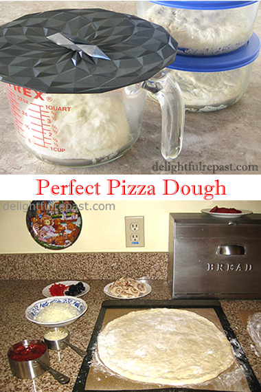 Perfect Pizza Dough - No Machine, No Kneading, No Fuss / www.delightfulrepast.com