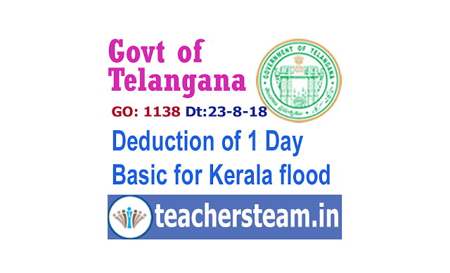 Deduction of one day Basic for kerala flood victims