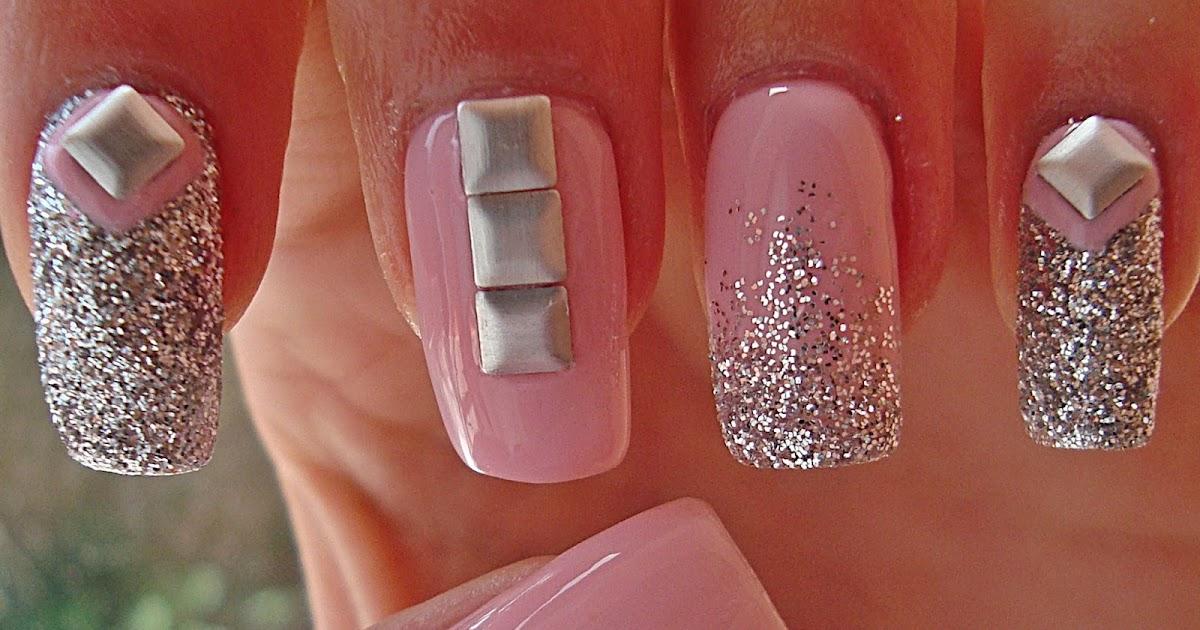 Nails Art Tutorials Unghii Cu Tinte Studs Nails