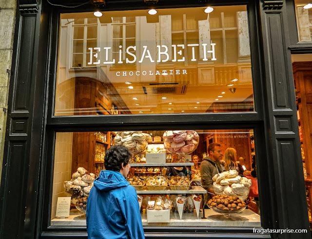 Chocolates na Bélgica:Elizabeth Chocolatier