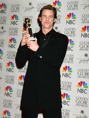 Jim Carrey com o seu Globo de Ouro