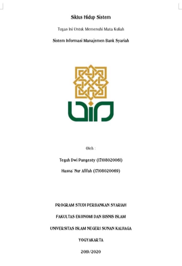Tugas Kuliah Makalah Siklus Hidup Sistem Mata Kuliah Sistem Informasi Manajemen Catatan Dara