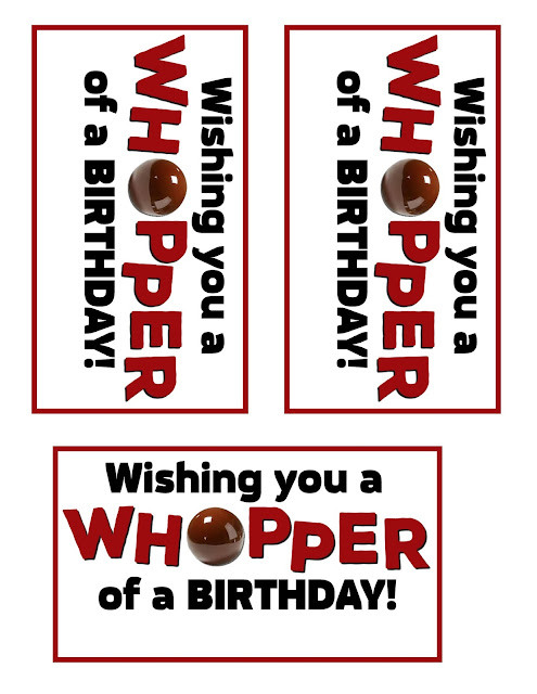 Wishing You a Whopper of a Birthday by Allred Design