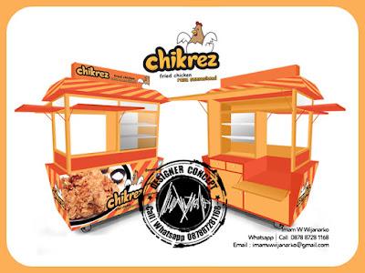 produksi gerobak fried chicken bandung