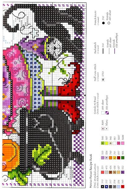 Hocus pocus cross stitch pattern bu J. Helliott