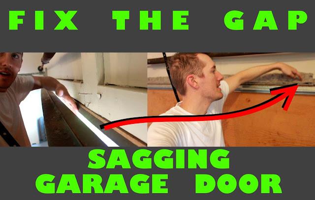 fix gap in sagging garage door