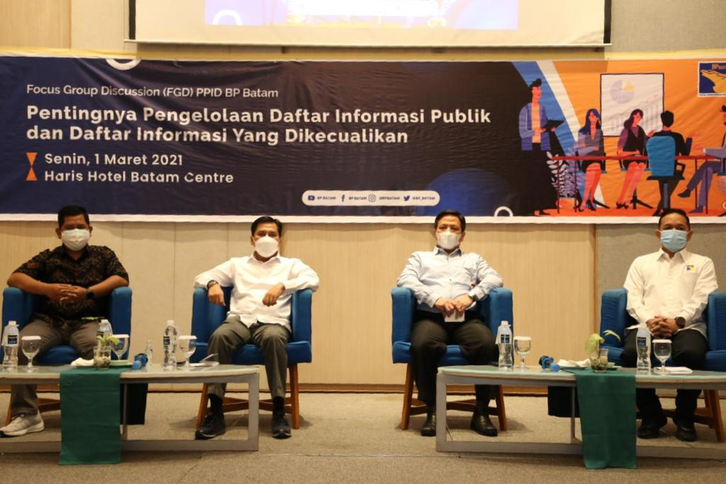 BP Batam Bina Pengelola PPID Dengan menggelar FGD Dengan Tajuk Pentingnya Pengelolaan Informasi Publik