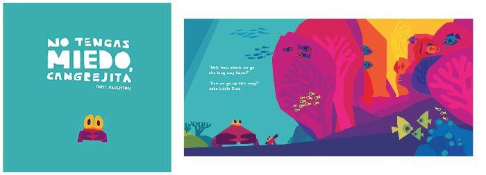 libros infantiles 0 a 3 años edad regalar navidad No tengas miedo cangrejita