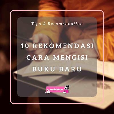10 ide mengisi buku baru