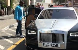 Courtenay Chatman ex-husband Michael Jai White entering the car