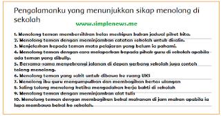 Pengalamanku yang menunjukkan sikap menolong di sekolah www.simplenews.me