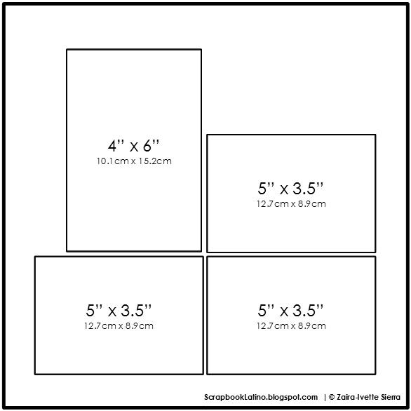 10 técnicas para multiplicar tus bocetos de scrapbooking: Técnica # 3