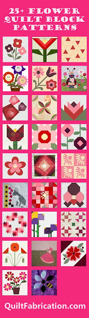 pink and red flower quilt blocks