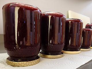 Tarros de mermelada de grosellas