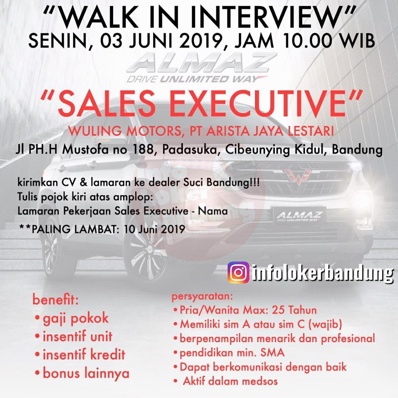 Walk In Interview PT.Arista Jaya Lestari ( Wuling Motors Bandung )  Senin 3 Juni 2019