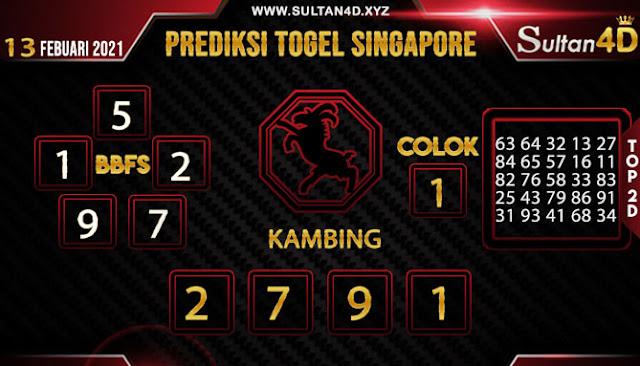 PREDIKSI TOGEL SINGAPORE SULTAN4D 13 FEBUARI 2021