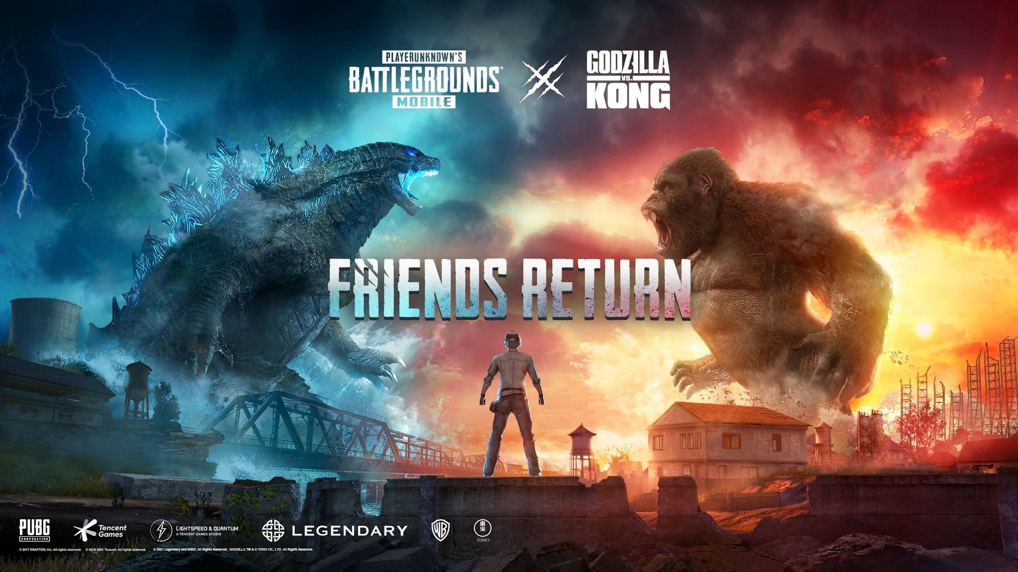 New Godzilla Vs Kong Achievement in PUBG Mobile.