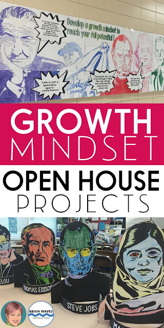 Open House Projects that promote Growth Mindset and teach critical ELA skills?  Yes, please!  Check out my favorite Open House project that is not only educational, visually appealing, meaningful, but it's also easy to create!  This Open House activity checks all the boxes!
