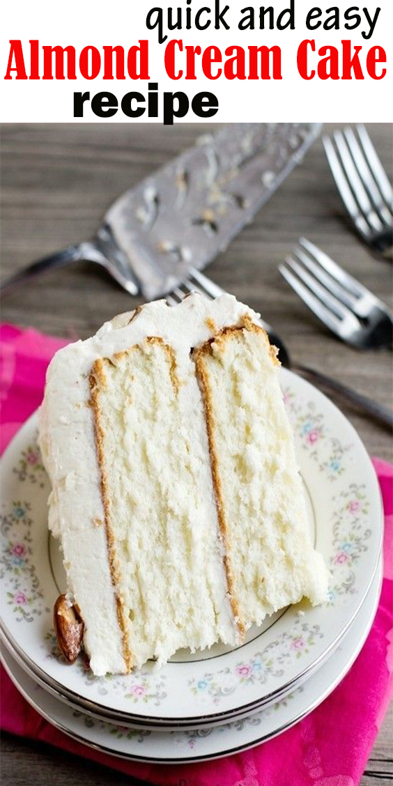 quick and easy  Almond Cream Cake #quickandeasy #Almond #Cream #Cake #quickandeasyAlmondCreamCake