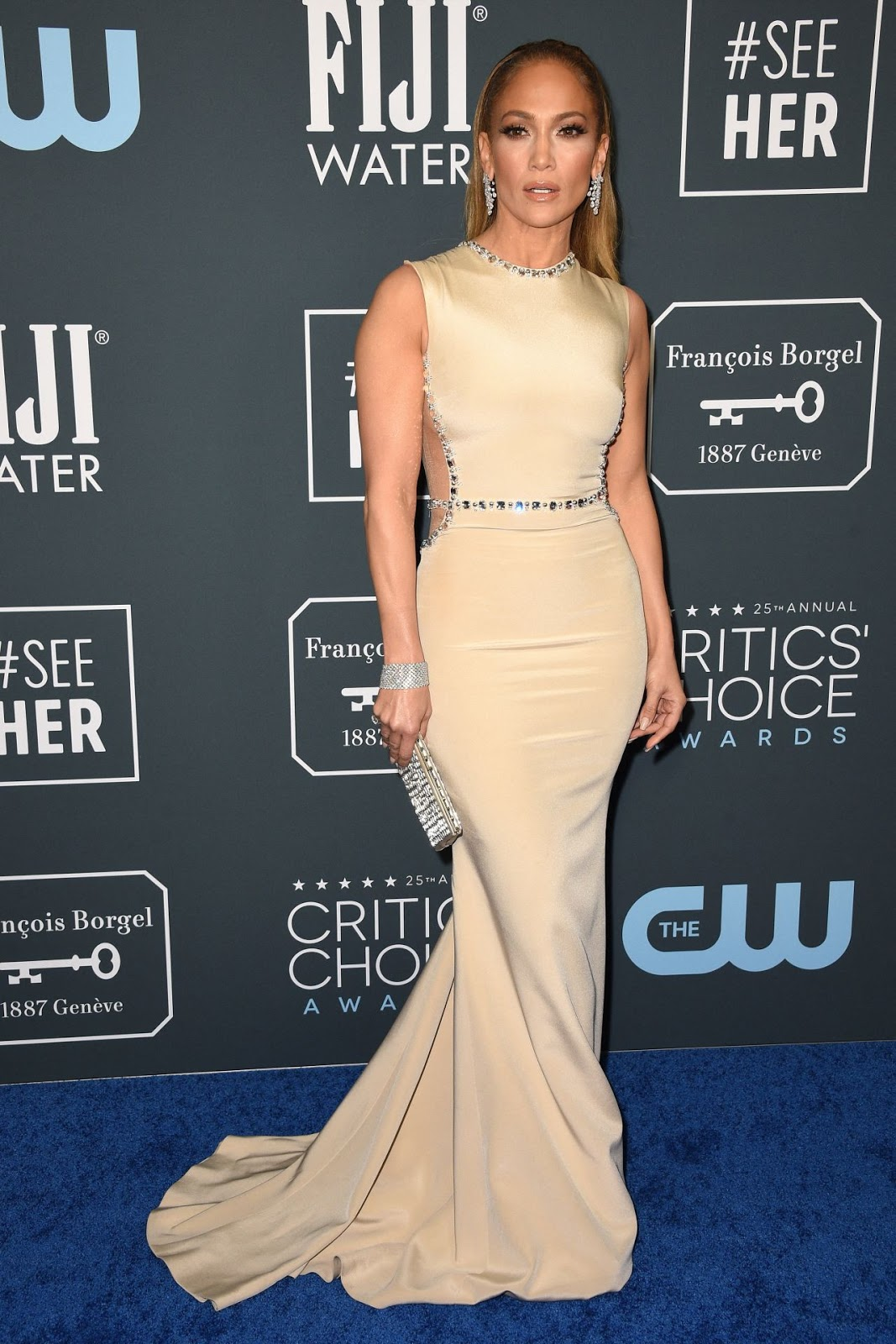 Jennifer Lopez goes backless in Georges Hobeika at the Critics' Choice Awards 2020