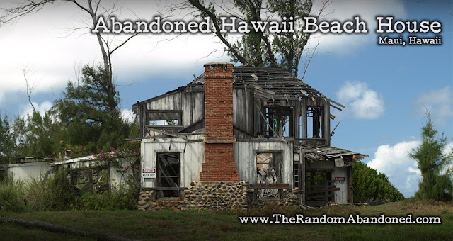 abandoned beahc house maui hawaii the doctor's house Waihee Coastal Dunes and Wetlands Refuge