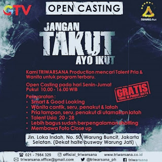 open casting acara program jangan takut ayo ikut gtv global tv