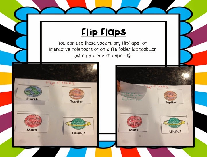Interactive Notebook flaps for different planets are available in this Solar System Unit
