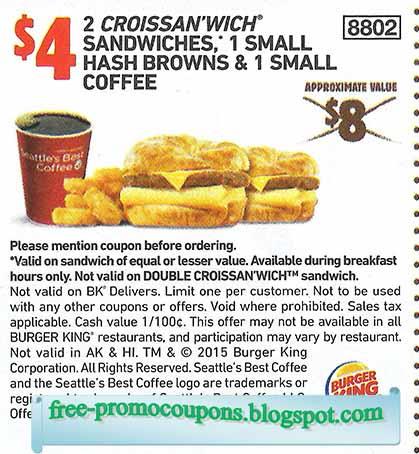 Burger king promo code