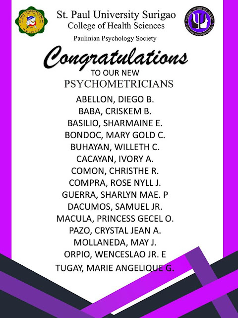 Congratulations to our new Psychometricians