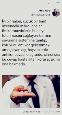 عالم تركي يغرد بخبر سار عن لقاح للقضاء على كورونا