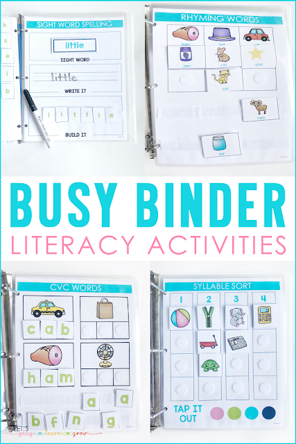 Busy Binder Literacy Activities