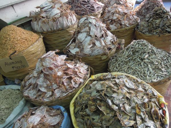 Dried fish in Taboan Market in Cebu