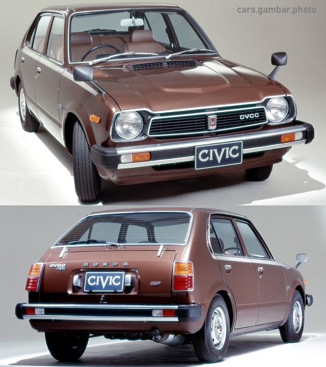 Honda Civic 1st Gen 4-door 1976 brown