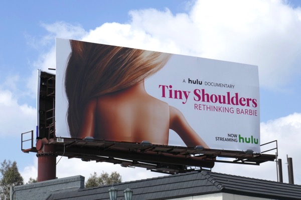 Tiny Shoulders Rethinking Barbie documentary billboard