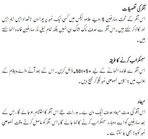Telenor Sacha Yar Offer details in urdu