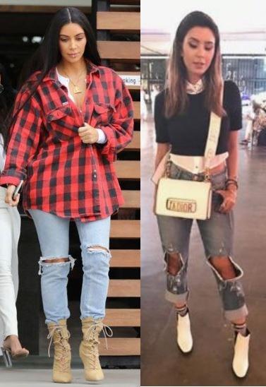 Kim Kardashian, Gabriela Sales (Rica de marré), Looks com bota
