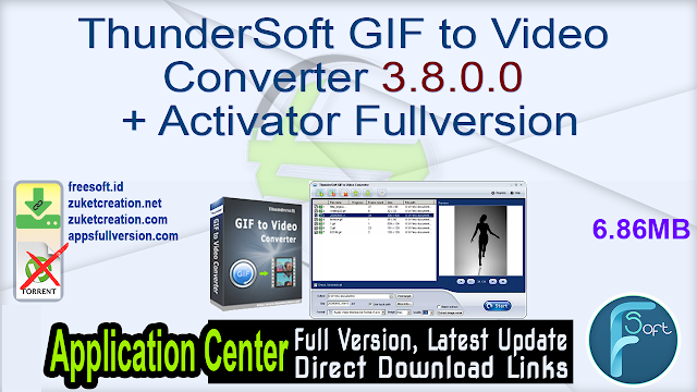 ThunderSoft GIF to Video Converter 3.8.0.0 + Activator Fullversion