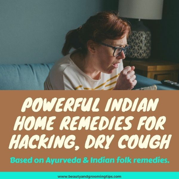 woman coughing pic - powerful dry cough indian home remedies