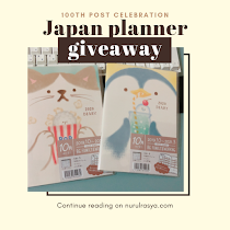 100th Post Celebration Ft. Japan Planner Giveaway!