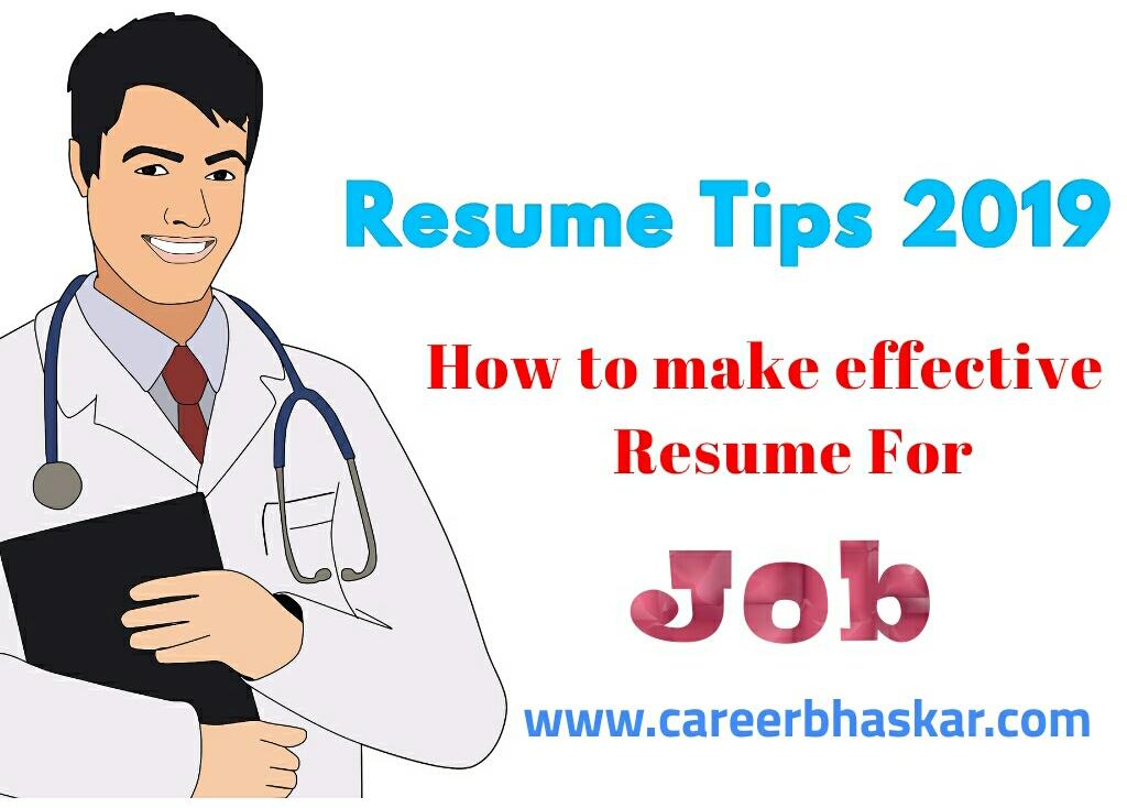 resume tips 2019