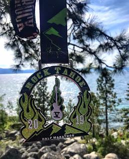 Rock Tahoe Half medal 2019