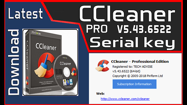CCleaner Professional v5.43.6522 Serial key is Here ! (Jun ...