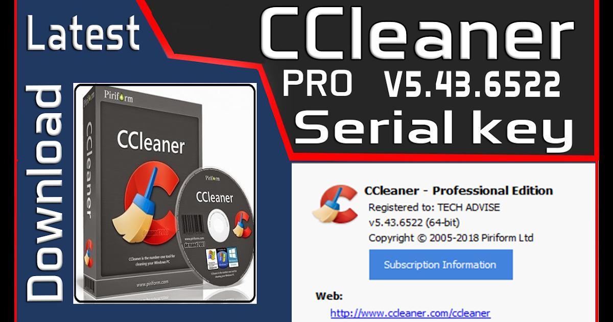CCleaner Professional v5.43.6522 Serial key is Here ! (Jun ...