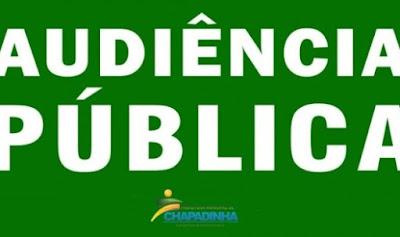 Prefeitura de Chapadinha convida população para Audiência Pública