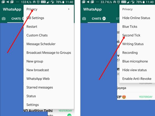 double tick on whatsapp Android