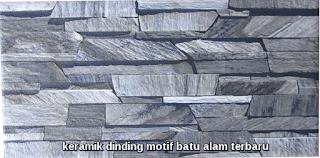 keramik dinding motif batu alam terbaru