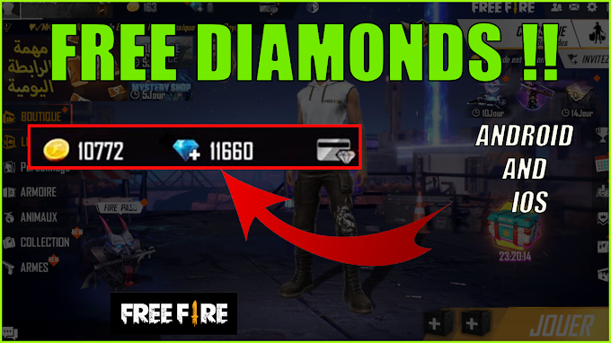 Get free diamonds in free fire fast and easy