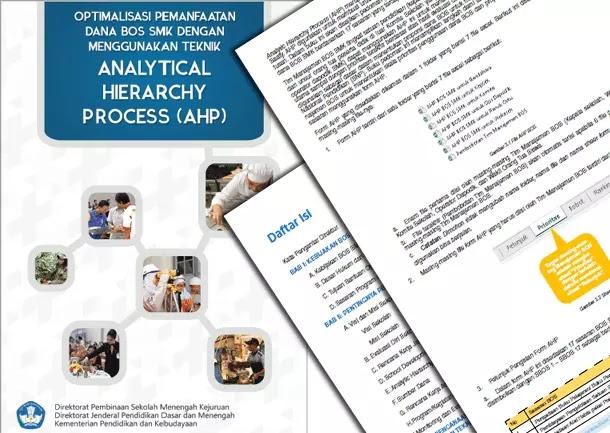 Buku dan Aplikasi Optimalisasi Pemanfaatan Dana BOS Menggunakan Teknik Analytic Hierarchy Process (AHP)