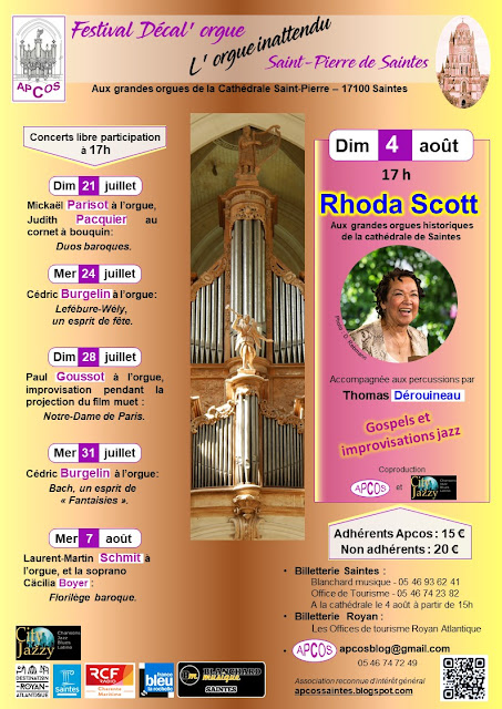 Festival Décal'orgue 2019 - apcossaintes