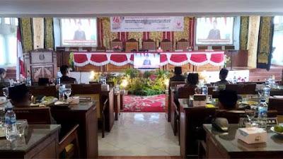 Kapolres 50 Kota Dengar Pidato Kenegaraan Presiden RI di Gedung DPRD